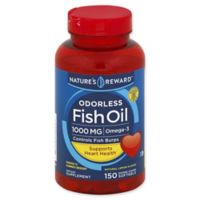 Nature's Reward 150-Count 1000 mcg Odorless Fish Oil Softgels in Natural Lemon Flavor