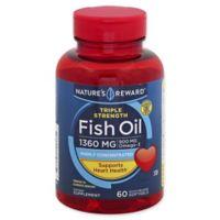 Nature's Reward 60-Count 1360 mcg Triple Strength Fish Oil Quick Release Softgels