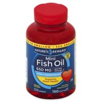 Nature's Reward 150-Count 650 mcg Mini Fish Oil Softgels in Natural Lemon Flavor
