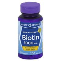 Nature's Reward 200-Count High Potency 1000 mcg Biotin Tablets