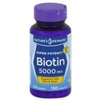 Nature's Reward 150-Count Super Potency 5000 mcg Biotin Tablets