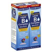 Nature's Reward 2-Pack 2 fl. oz. B Complex Plus B-12 Sublingual Liquid in Natural Berry Flavor