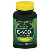 Nature's Reward 100-Count Vitamin E 400 IU Quick Release Softgels