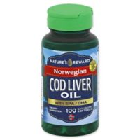 Nature's Reward 100-Count Norwegian Cod Liver Oil with EPA/DHA Quick Release Softgels