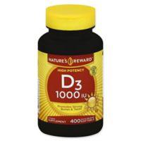 Nature's Reward 400-Count High Potency 1000 IU Vitamin D3 Quick Release Softgels
