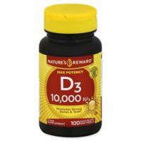 Nature's Reward 100-Count Max Potency 10,000 IU Vitamin D Quick Release Softgels