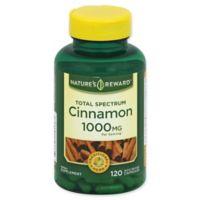 Nature's Reward 120-Count 1000 mg Total Spectrum Cinnamon Quick Release Capsules