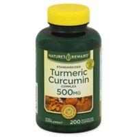 Nature's Reward 200-Count 500 mg Standardized Turmeric Curcumin Complex Quick Release Capsules