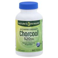 Nature's Reward 90-Count 520 mg Activated Coconut Charcoal Quick Release Capsules