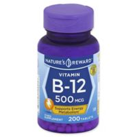 Nature's Reward 200-Count 500 mcg Vitamin B-12 Tablets