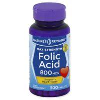 Nature's Reward 300-Count 800 mcg Max Strength Folic Acid Tablets