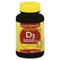 Nature's Reward 360-Count Super Potency 5000 IU Vitamin D3 Quick Release Softgels