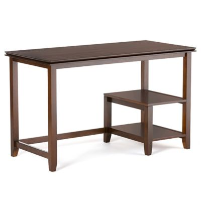 Simpli Home Artisan 50 Inch Desk In Auburn Brown
