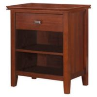 Simpli Home Artisan 24-Inch Bedside Table in Auburn Brown