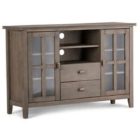 Simpli Home Artisan 53-Inch Tall TV Stand in Distressed Grey