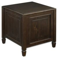 Simpli Home Connaught Side Table in Dark Chestnut Brown