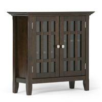 Simpli Home Bedford 32-Inch Storage Cabinet in Tobacco