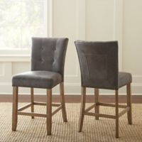 Steve Silver Co. Debby Counter Chairs in Grey (Set of 2)