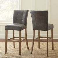 Steve Silver Co. Debby Bar Chairs in Grey (Set of 2)