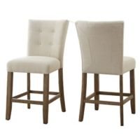 Steve Silver Co. Debby Counter Chairs in Beige (Set of 2)