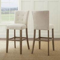 Steve Silver Co. Debby Bar Chairs in Beige (Set of 2)
