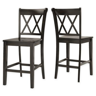 verona home marigold hill x counter chairs in antique black set of 2