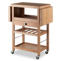 Winsome Trading Barton Kitchen Cart in Bamboo