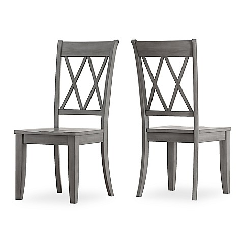 Verona Home Marigold Hill X Back Dining Chairs In Grey