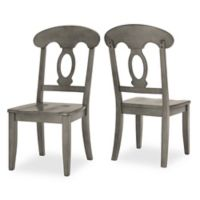 Verona Home Marigold Hill Napoleon Dining Chairs in Grey (Set of 2)