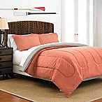 Martex 2-Tone Reversible King Comforter Set in Coral/Light Grey