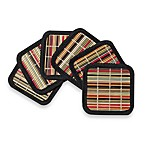 Bamboo Bright Stripe Coasters (Set of 6)