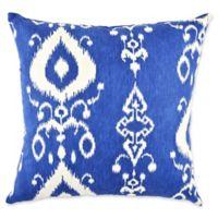 Vesper Lane Modern Ikat Square Throw Pillow in Blue