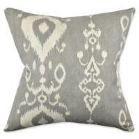 Vesper Lane Modern Ikat Square Throw Pillow in Charcoal