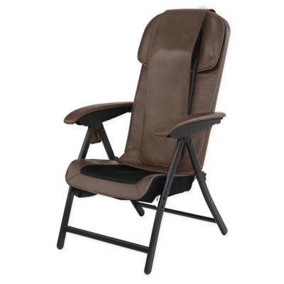 HoMedics® Fold-Away Massaging Shiatsu Lounge Chair in Brown  sc 1 st  Bed Bath u0026 Beyond & Buy Folding Lounge Chairs from Bed Bath u0026 Beyond
