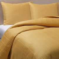Real Simple® Dune Full/Queen Reversible Coverlet in Mustard