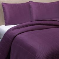 Real Simple® Dune Full/Queen Reversible Coverlet in Eggplant
