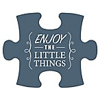 "WallVerbs™ Mix & Match Puzzle Wall Art ""Enjoy the Little Things"" Piece"