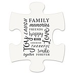 "WallVerbs™ Mix & Match Puzzle Wall Art ""Family"" Piece"
