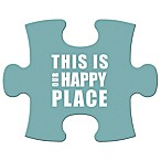 "WallVerbs™ Mix & Match Puzzle Wall Art ""This is Our Happy Place"" Piece"