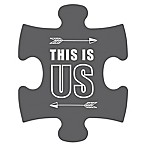 "WallVerbs™ Mix & Match Puzzle Wall Art ""This is Us"" Piece"