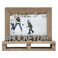 """# Hockey Life"" Decorative Wood and Metal Frame"