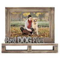 """Best Dog Ever"" Decorative Wood and Metal Frame"