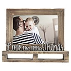 """Love The Little Things"" Decorative Wood and Metal Frame"