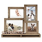 """Best Family Ever"" 4-Opening Decorative Wood and Metal Frame"