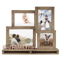 """""""Best Family Ever"""" 4-Opening Decorative Wood and Metal Frame"""