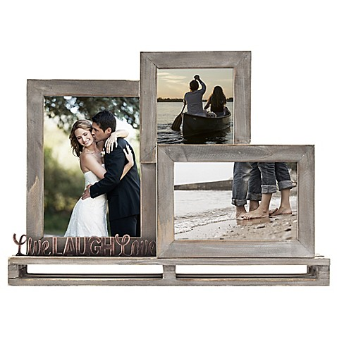 Quot Live Laugh Love Quot 3 Opening Decorative Wood And Metal