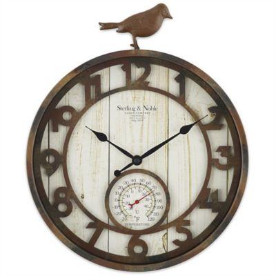 Sterling U0026 Noble Rustic Bird Indoor/Outdoor Wall Clock