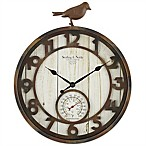 Sterling & Noble Rustic Bird Indoor/Outdoor Wall Clock
