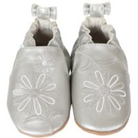 Robeez® Size 6-12M Metallic Mist Shoe in Silver