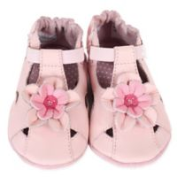 Robeez® Size 18-24M Pretty Pansy Shoe in Pink